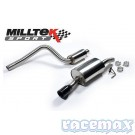 Ford Fiesta MK6 - ST150 - Milltek - 2,4Zoll Edelstahl Sport-Auspuffanlage ab Kat mit VSD - UK -