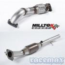 Ford Fiesta MK6 - ST150 - Milltek - 2,4Zoll Edelstahl Verbindungsrohr vorne und Sport-Katalysator - UK -