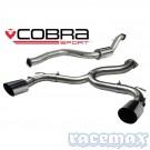 Ford Focus MK2 - RS305 - COBRA SPORT - 3Zoll Venom Edelstahl-Auspuffanlage ohne ESD mit VSD ab Kat