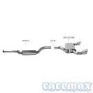 Ford Focus MK2 - RS305 - Bastuck - 2,75Zoll Edelstahl Sport-Auspuffanlage ab Kat - mit ECE