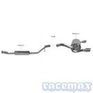 Ford Kuga MK1 - Bastuck - 2,75Zoll Edelstahl Sport-Auspuffanlage ab Kat - Benziner - mit ECE