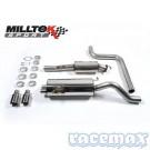 Ford Fiesta MK7 - ST180 + ST200  - Milltek - 2,75Zoll Edelstahl Sport-Auspuffanlage ab Kat - EURO - mit ECE/EG